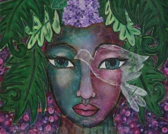 Divine Feminine Print-Flowering