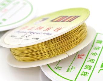 1 reel 15 metres of Golden wire 0.4 mm copper