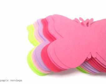 25 butterfly die cuts,butterflies in five spring colors, butterflies, pink, green, purple ,spring decorations, spring scrapbooking