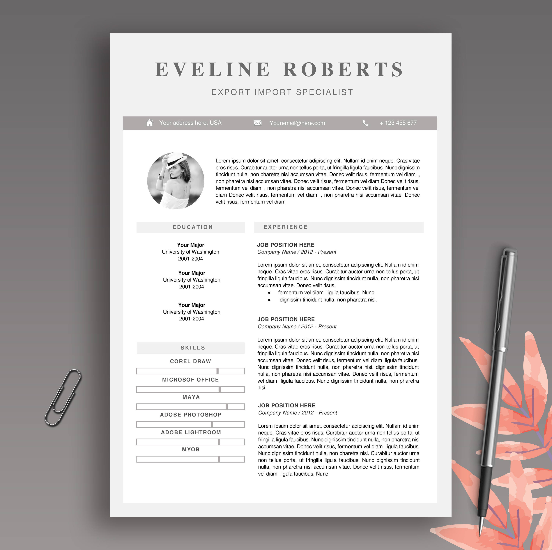 Moderne professionelle und kreative Lebenslauf Vorlage / CV