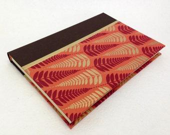 Handmade Journal with Fern Pattern
