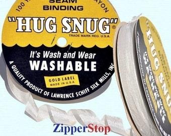 "OATMEAL - Hug Snug Seam Binding Ribbon- 100 yard roll 1/2"" Wide - 100% Woven-Edge Rayon"