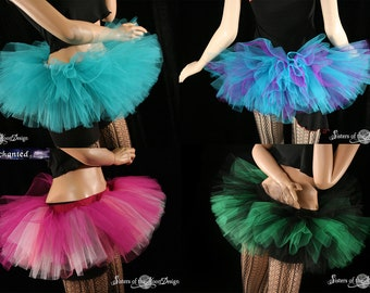 Custom Color tutu Peek a boo skirt Adult club dance costume roller derby team run race -You Choose Size and Color - Sisters of the Moon