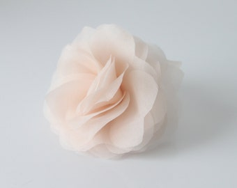 Bridal Hair Flower, Silk Organza Bridal Flower, Organza Bridal Hair Flower, Flower Hairpin, Bridal Hairpin, Silk Flower Hairpin