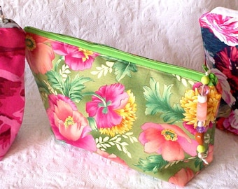 Makeup Organizer Bag, Catch All Storage Pouch, Small Makeup Travel Bag, Graduation Gift, Craft Project Storage, Travel Accessory