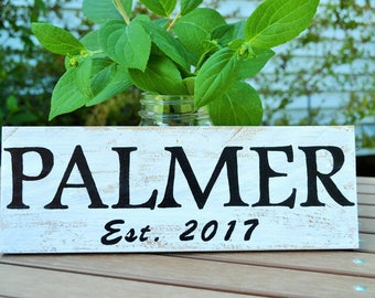 Custom Last Names, wooden sign