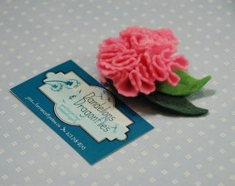 Birth Flower Hair Clip - January Carnation