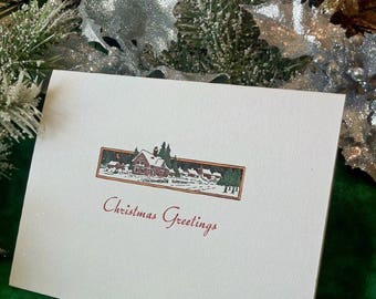 Limited Edition Letterpress Christmas Cards (set of 5) with Signed Print