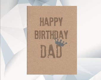 HAPPY BIRTHDAY  DAD! Dad Birthday Cards,  dad birthday, Happy Birthday Dad, Funny Dad Card, Blue