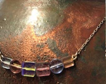 geo glass bead neclace