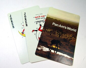 Vintage Playing Cards Airlines United Pan Am