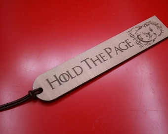 Hodor Hold The Page Game Of Thrones Inspired Plywood Wooden Bookmark