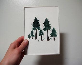 Forrest Feels 5x7 Original Watercolor