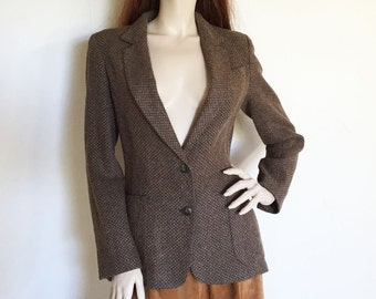 70s Bagatelle Taupe Fitted Casual Blazer