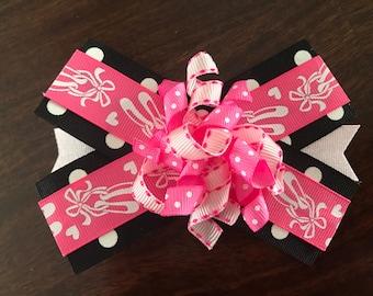 Pink Dance Hair Bow