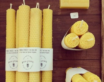 Rolled candles (set of several candles)
