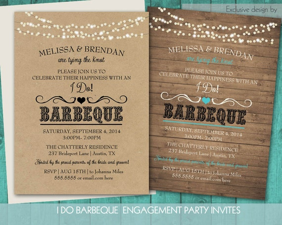 Printable I Do BBQ Wedding Reception Invitation | Wedding Reception Only  Invitations |Western Wedding | Couples Shower DIY Digital Template