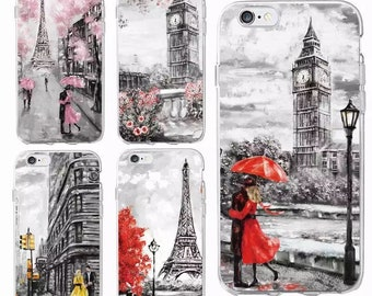 Scenery Paris London New York Silicone iphone/samsung cases