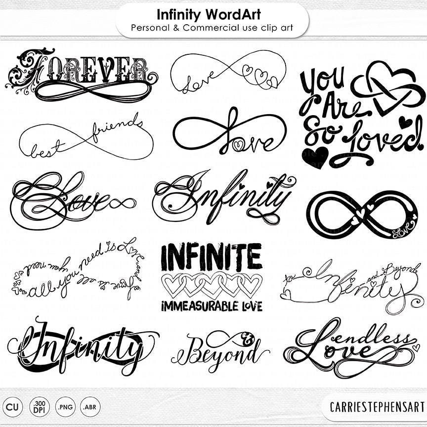 Infinity Symbol Clip Art Infinite Love Wordart Silhouette