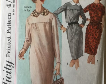 Sewing pattern  - dress pattern - simplicity  - Size 16 - Bust 36 - Vintage Sewing Pattern - 1960s sewing pattern
