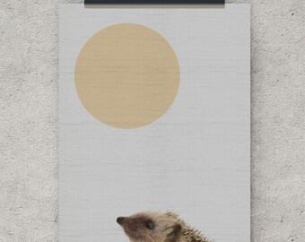 Hedgehog print, digital download, animal art, nursery decor, instant download, nursery prints, woodland nursery, woodland wall art, prints
