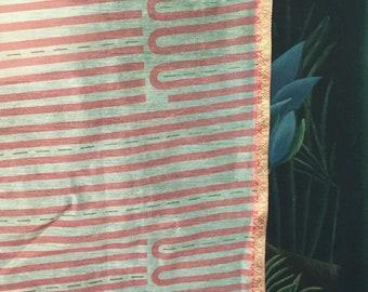 Vintage Mid Century Design Fabric Piece Curtain Material Home Decor