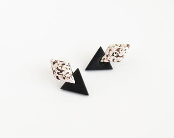 Geometric earrings Contemporary earrings Stud earrings Modern earrings Modern jewelry Gift for her Geometric jewelry Contemporary jewelry