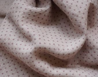 Linen fabric# light taupe background with  TAUPE stars#soft fabric