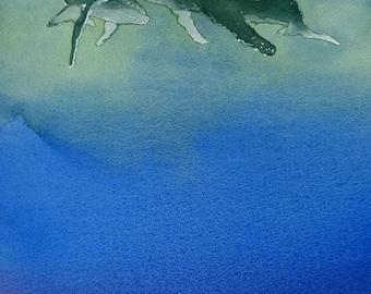 Art Card; Humpback Whales