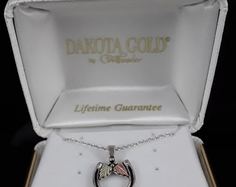 Dakota Black Hills Gold Horse Shoe Pendant Necklace
