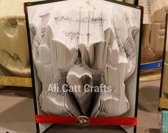 98 Micky and Minnie Kissing - Book Folding Pattern