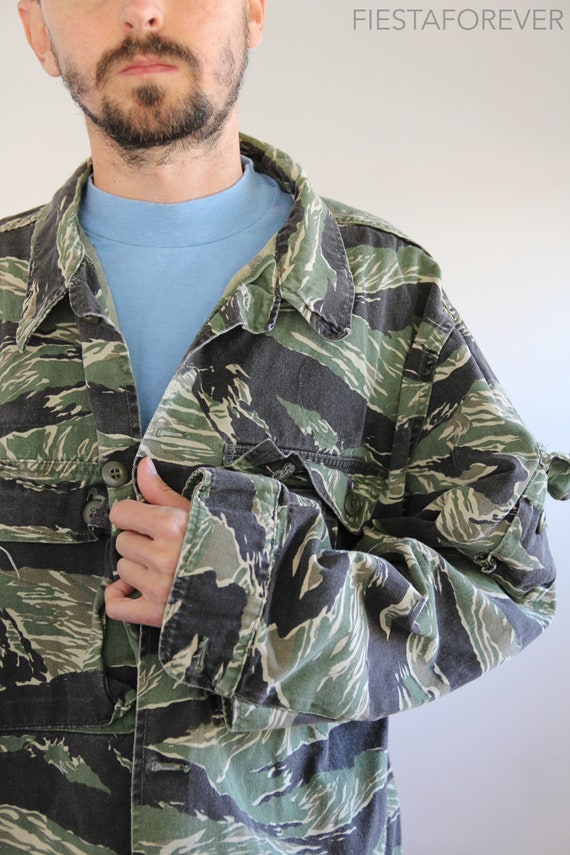 Stripe Jacket Military Large Tiger Jungle PAqwY5Ow