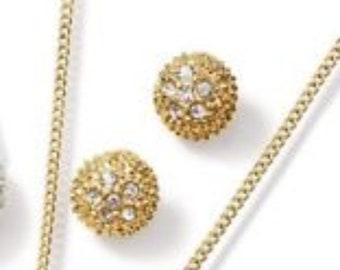 Avon Abrianna Necklace & Pierced Earrings Set