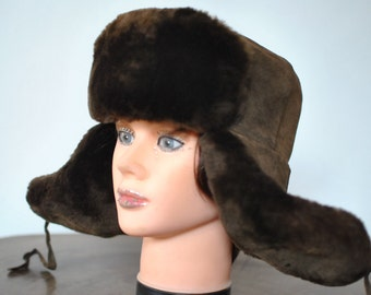 Vintage LAMBSKIN fur hat , women's fur hat ...........(013)