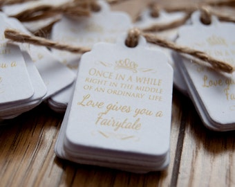 20x Mini Once in a While Favour/Wedding Tags
