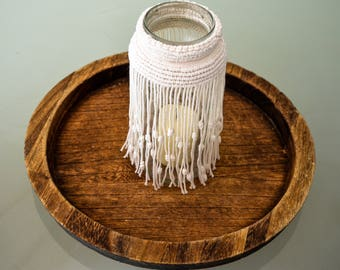 Candle, macrame, candle, ambience, home decor, wall hanging,