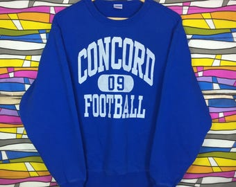 Rare!! Vintage CHAMPION Sweatshirt Big Logo Large Size concord football pullover clothing jumper