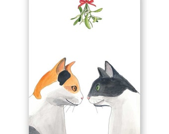Mistletoe Cats Card