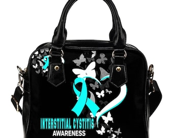 Interstitial Cystitis Awareness Shoulder Bag / Handbag