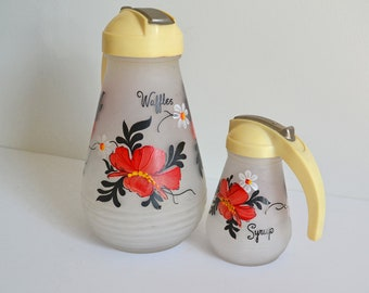 1950's Waffle Batter and Syrup Dispenser