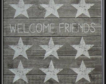 wood welcome friend background paper towel
