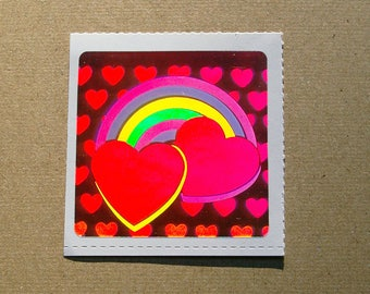 Decal Specialties Holographic Hearts Sticker