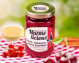 Cherry currant liqueur Fruchtauftstrich
