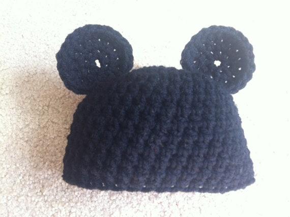 Gehäkelte Mickey-Mouse-Outfit Beanie / Mütze