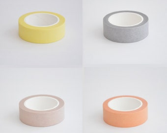 Pure Color Washi Tapes - Masking Tape - Japanese Washi Tape - Paper tape - Decorative tape - Planner tape - Scrapbooking Tape