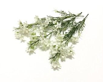Waxflower etsy one set cream white waxflower stems artificial flowers silk flowers millinery flower mightylinksfo Choice Image