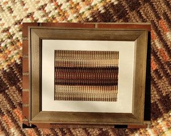 Cabin Handwoven Framed Art