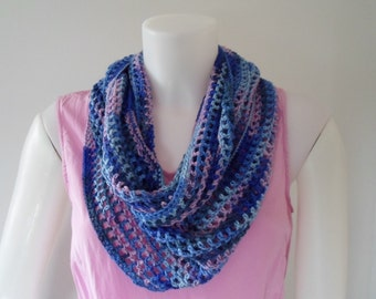 Circle Scarf Bamboo Blues