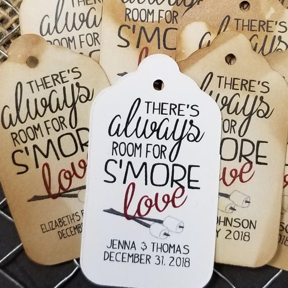 Always room for Smore Love MEDIUM Personalized Wedding Favor Tag  choose your amount, S'more Love, adding smore love