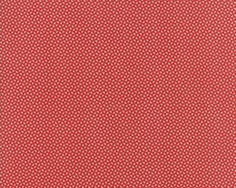 Farmhouse Reds - Triangles Ivory Red by Minick & Simpson for Moda, 1/2 yard, 14854 13